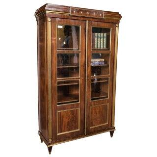 Antique 19th C. Neoclassical Two-Door Bookcase