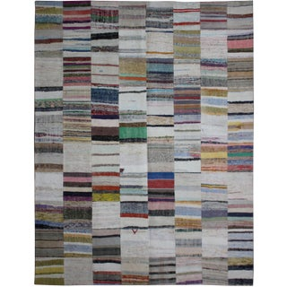 Aara Rugs Inc. Hand Knotted Patchwork Kilim - 10′ × 13′2″
