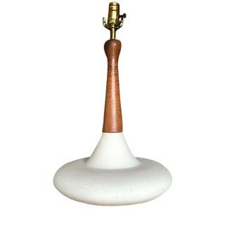 Danish Retro White Table Lamp
