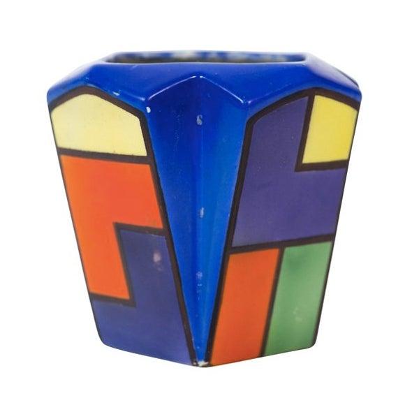Art Deco Cubist Color Block Vase - Image 4 of 4