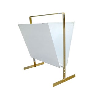 Vintage 1960s Brass Magazine Rack
