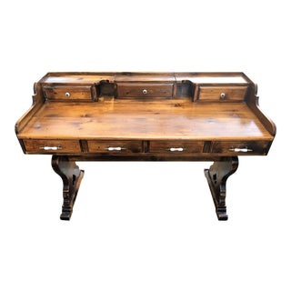 Country-Style Solid Wood Desk by Sprague & Carleton