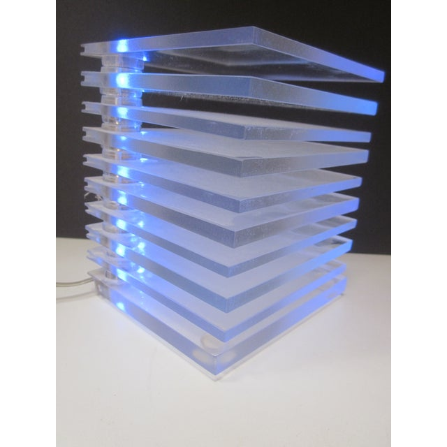 Lucite Plastic Stacking Mood Lamp Light - Image 7 of 9