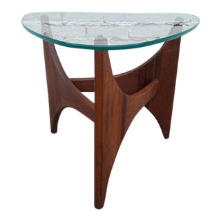 Adrian Pearsall Triangle Walnut Side Table