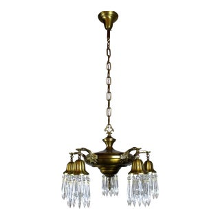 5 Light Pan Fixture with Crystals