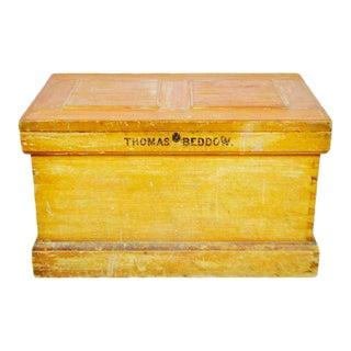 Vintage Wood Storage Trunk Chest