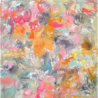 """Trixie Pitts """"Hey Day"""" Abstract Oil Painting"""