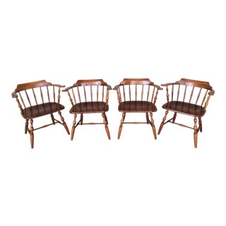 Virginia House Solid Cherry Barrel Back Chairs - Set of 4