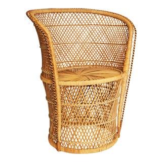 Vintage Wicker Bohemian Peacock Chair