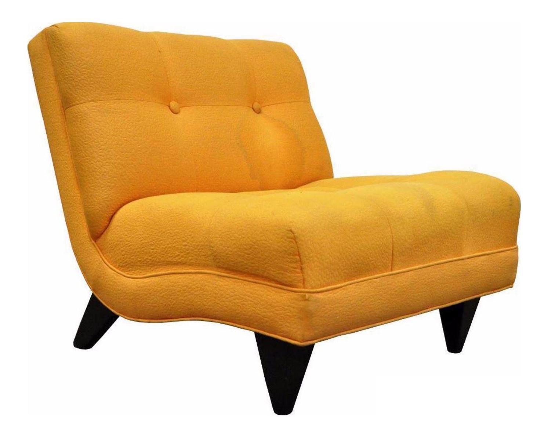 Amazing Vintage Mid Century Modern Slipper Lounge Chair