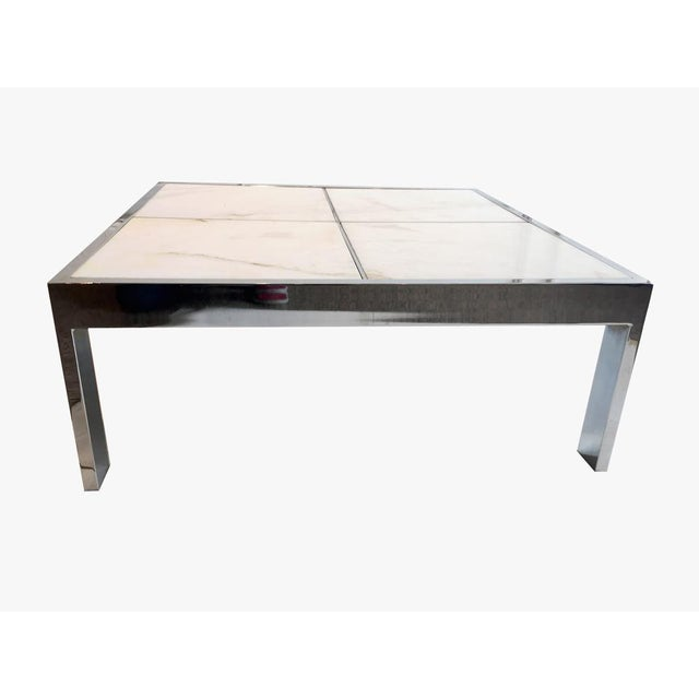 Image of Pace Chrome & Marble Coffee Table
