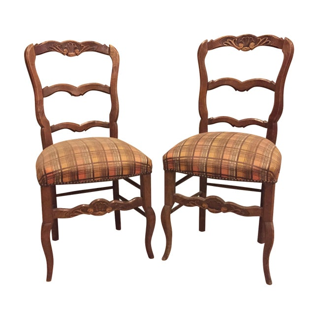 Antique 1900's French Country Side Chairs - Pair - Image 1 of 8