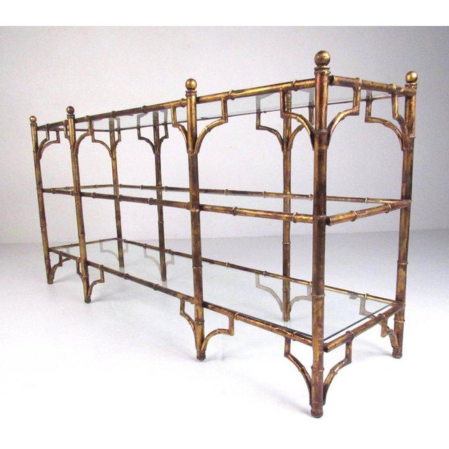 Faux Bamboo Gilt Console Table - Image 3 of 7
