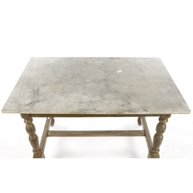19th Century Gustavian Table With Marble Top and 18th Century Gustavian Farm Table - Image 8 of 10