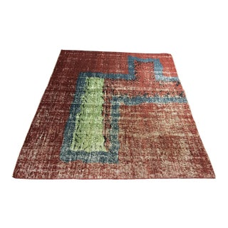 "Bellwether Rugs Distressed Vintage Turkish Zeki Muren Rug - 4'9""x5'10"""