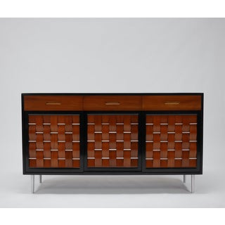 Woven Front Credenza by Edward Wormley for Dunbar