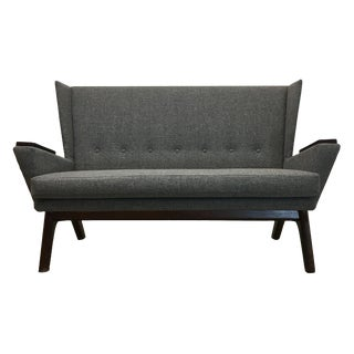 Modern Gray Upholstered Loveseat Sofa