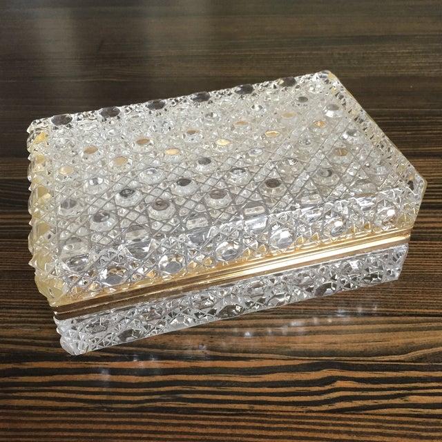 Vintage Crystal Jewelry Box - Image 2 of 7