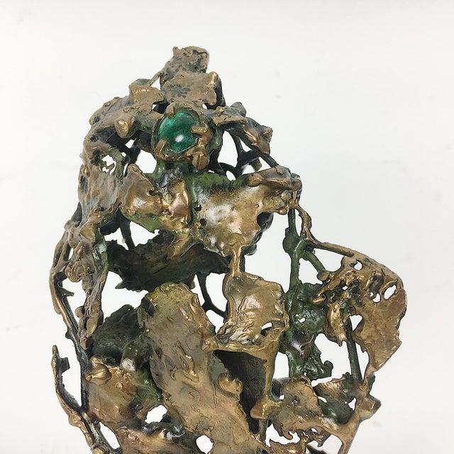 Ben Kupferman Bronze Sculpture With Malachite - Image 4 of 6