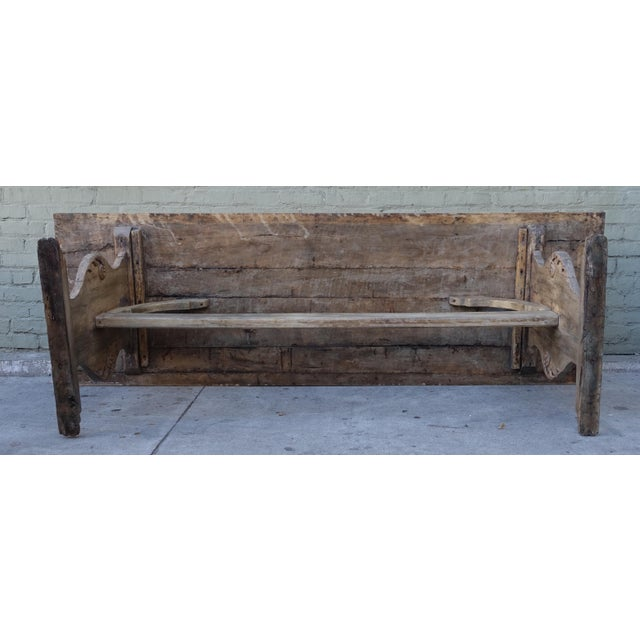 19th C. Carved Italian Trestle Dining Table - Image 5 of 11