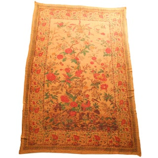 Indian Kalamkari Tree of Life Linen Textile