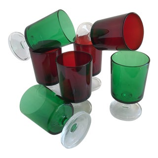Ruby & Emerald Stemware - Set of 7