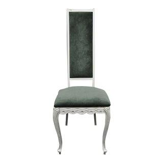 Kessler Industry Hollywood Regency Silver Infinity Metal Chair