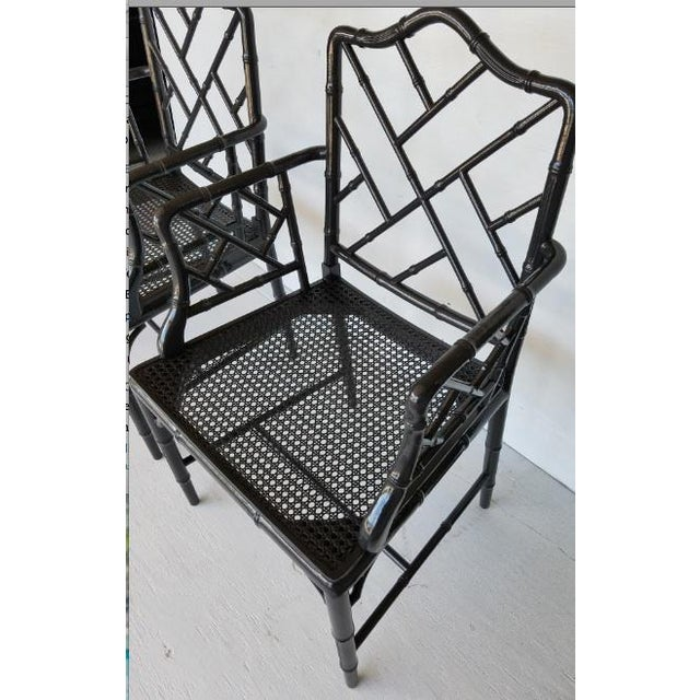 Vintage Wood Chippendale Chairs - Set of 6 - Image 5 of 7