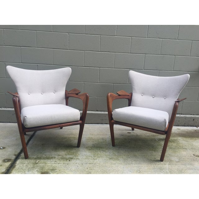 Adrian Pearsall Sculptural Lounge Chairs - Pair - Image 2 of 8