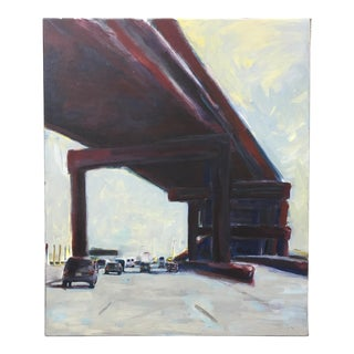 "Greg Favors ""Overpass"" Acrylic on Canvas Painting"