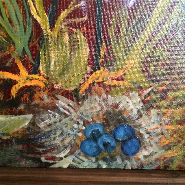 """""""Birds of a Feather"""" Original Oil Painting - Image 5 of 7"""
