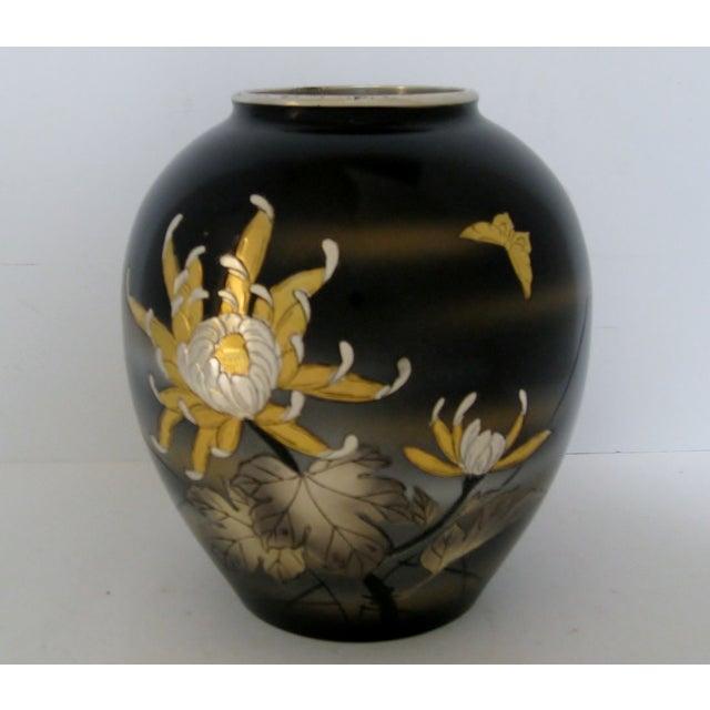 Vintage Meiji Metalwork Vases - A Pair - Image 3 of 11