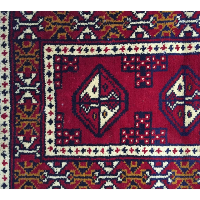 Turkaman Handmade Persian Rug - 1′8″ × 2′11″ - Image 5 of 11