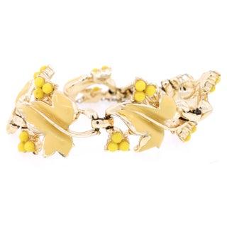 Coro Yellow Enamel Bracelet