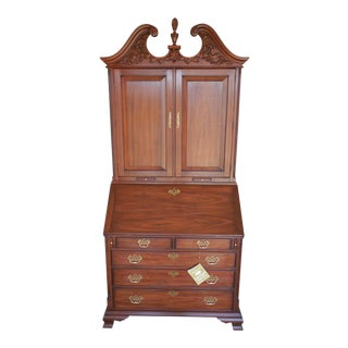Henkel Harris Black Walnut Secretary Blind Door Slant Front Desk