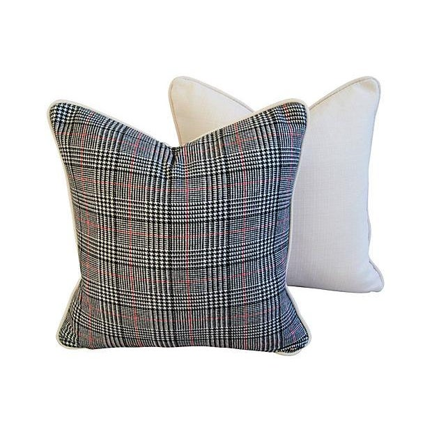 Custom Ralph Lauren Houndstooth Pillows - A Pair - Image 6 of 7