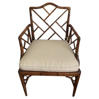 Vintage Faux Bamboo Accent Chair