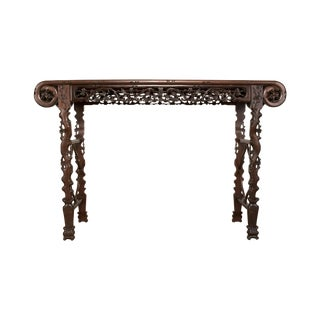 Huanghuali Carved Altar Table