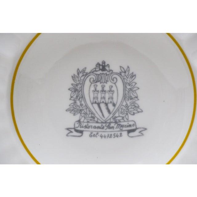 Ristorante San Marino Porcelain Ashtray - Image 3 of 6