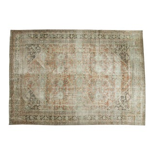 "Vintage Distressed Mahal Carpet - 8'11"" x 12'7"""