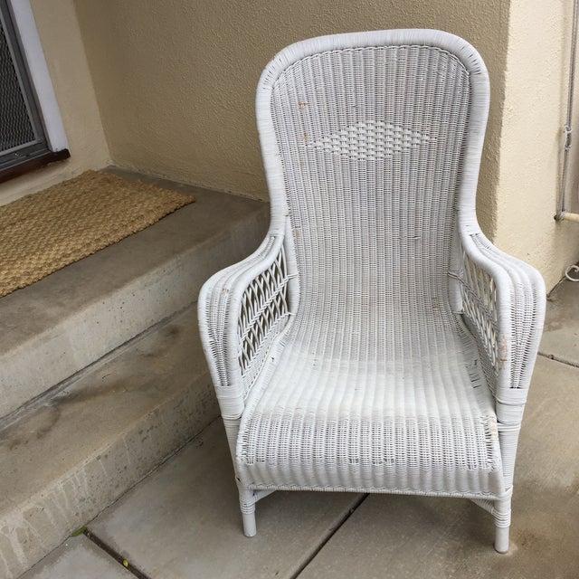 Vintage Dryad Art Deco Wicker Armchair | Chairish
