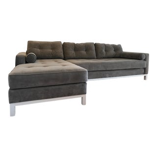 Modern L-Shaped Gray Couch