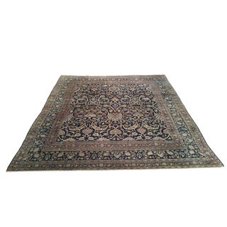 """9'8"""" X 11'8"""" Antique Persian Sarouk Handmade Knotted Rug - Size Cat. 9x12"""