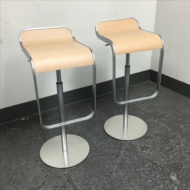 Lapalma Lem Adjustable Barstools - Pair - Image 3 of 8