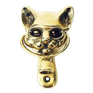 Vintage Brass Cat Door Knocker