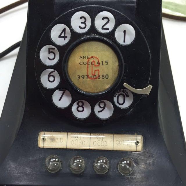 Image of 1950 2-Line Telephone WE Model 440EG Black