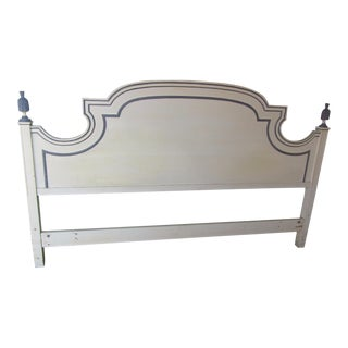 Vintage Gustavian Painted King Headboard