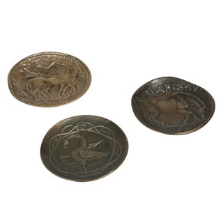 Three Decorative Bronze Dishes by Max Le Verrier
