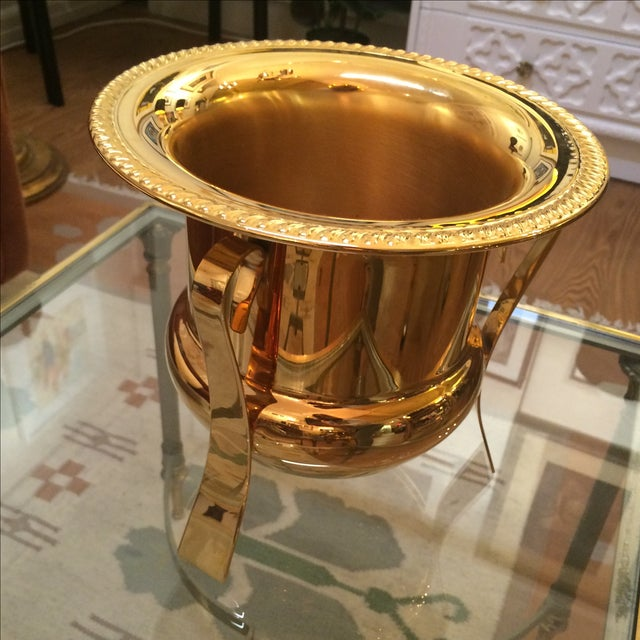 14k Gold Electro Plated Champagne Bucket - Image 5 of 7
