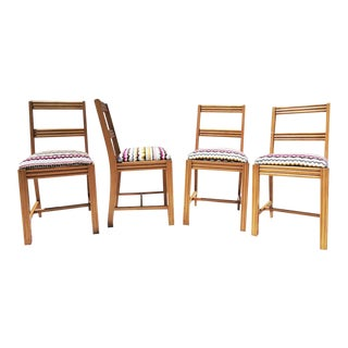 Bohemian Print Dining Chairs - Set of 4